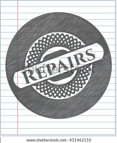 Repairs draw with pencil effect