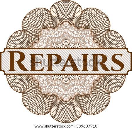 Repairs money style rosette