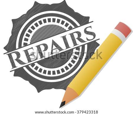 Repairs penciled