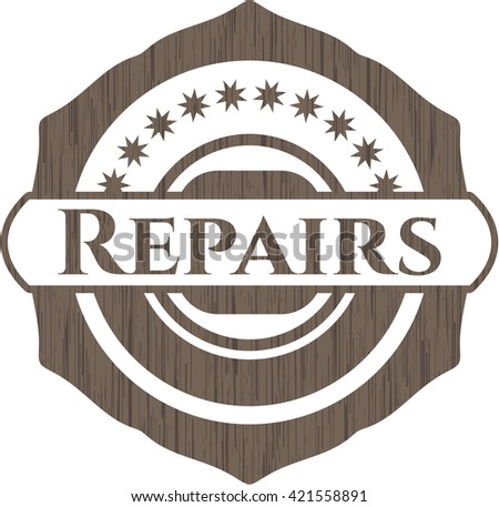 Repairs realistic wood emblem