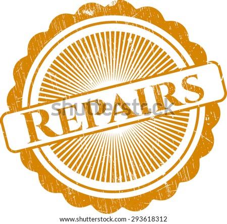 Repairs rubber grunge stamp