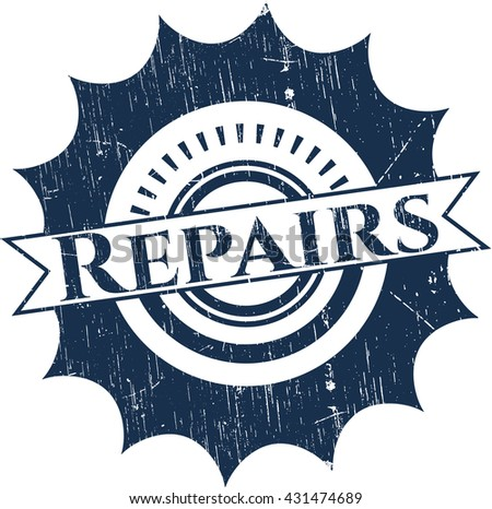 Repairs rubber grunge stamp