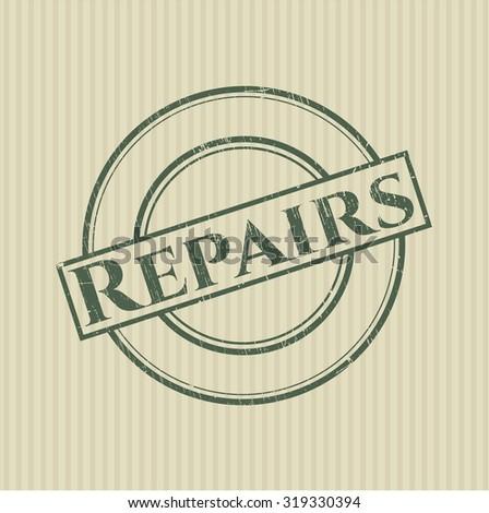 Repairs rubber grunge texture stamp