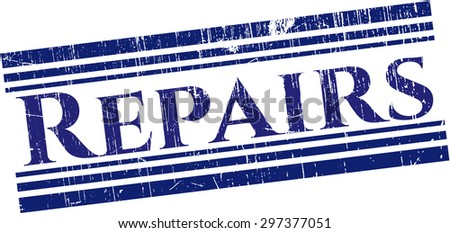 Repairs rubber stamp