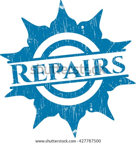 Repairs rubber stamp