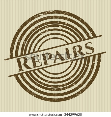 Repairs rubber stamp with grunge texture