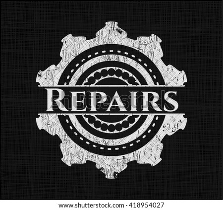 Repairs with chalkboard texture