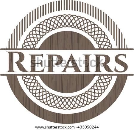 Repairs wood emblem. Retro
