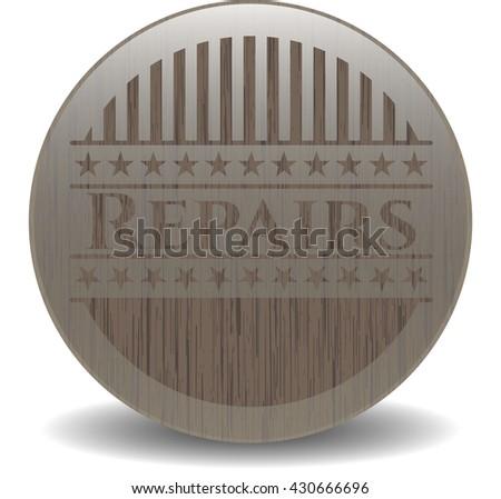 Repairs wood signboards