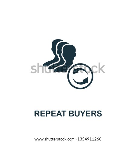 Repeat Buyers icon. Creative element design from content icons collection. Pixel perfect Repeat Buyers icon for web design, apps, software, print usage. Сток-фото ©