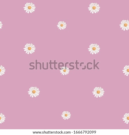 repeat daisy flower pattern
