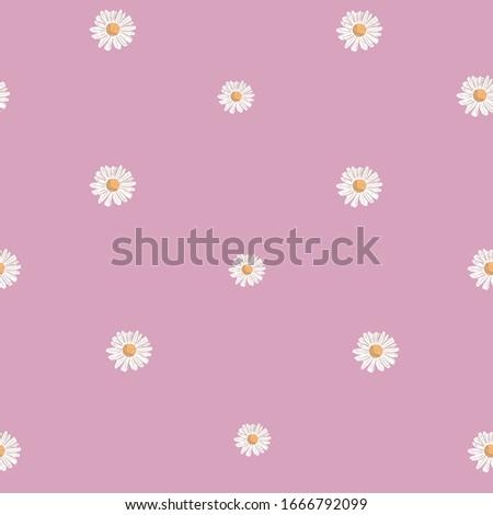 repeat daisy flower pattern