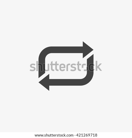 Repeat Icon in trendy flat style isolated on grey background, for your web site design, app, logo, UI. Vector illustration, EPS10.