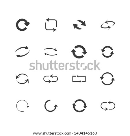 repeat icons set set of 16