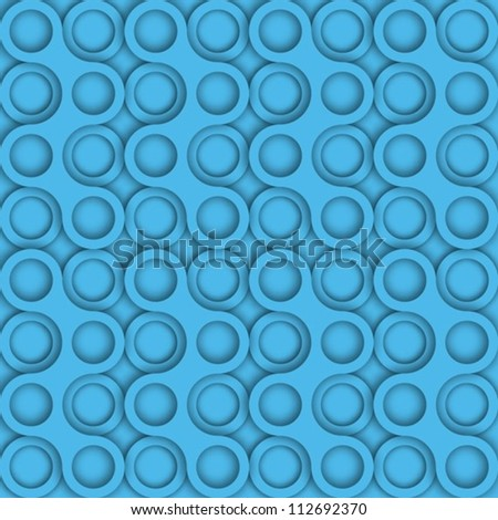 repeatable circles pattern (easy to change color and shadows transparency) - stock vector