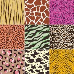 repeated wild animal print pattern