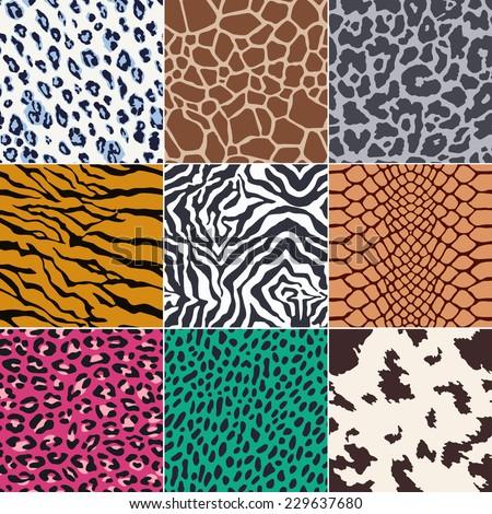 repeated wild animal skins