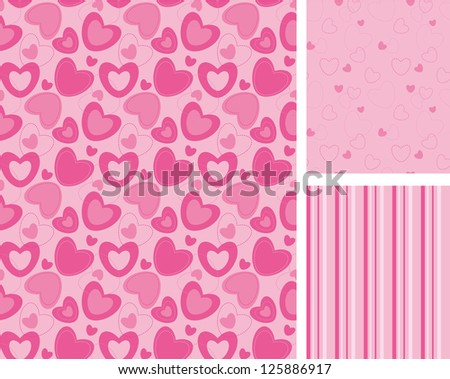 repeating background with hearts