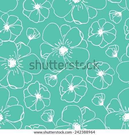 Awesome Repeating Modern Floral Background Pattern. Flower Vector Pattern. | Stock  Images Page | Everypixel