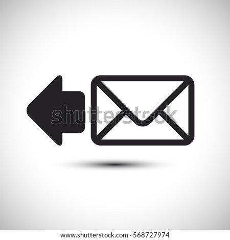 Reply Send Mail Icon. Email Vector Icon. Flat Mail Icon. Vector Illustration.