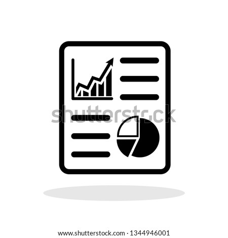 Report icon in trendy flat style. Audit / Analysis / Planning symbol for your web site design, logo, app, UI Vector EPS 10. - Vector
