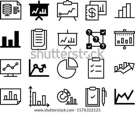 report vector icon set such as: point, orderly, art, mobile, white, elements, eps, test, upside, banner, notice, account, files, column, device, tick, label, bars, accounting, network, notepad