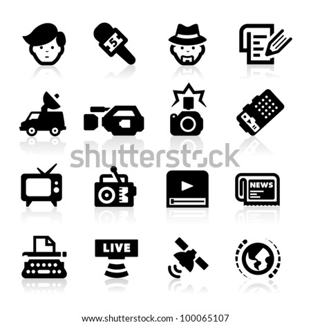 Reporter icons set -?? Elegant series
