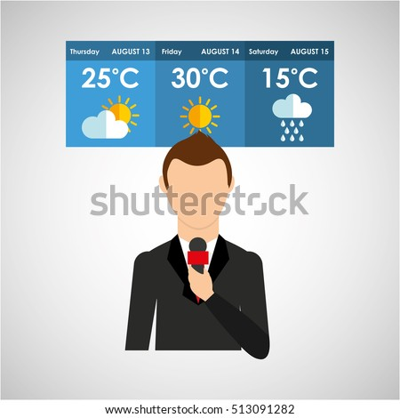 reporter man weather forecast