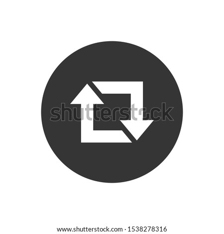 Repost icon, repost symbol, repost sign. Vector illustration