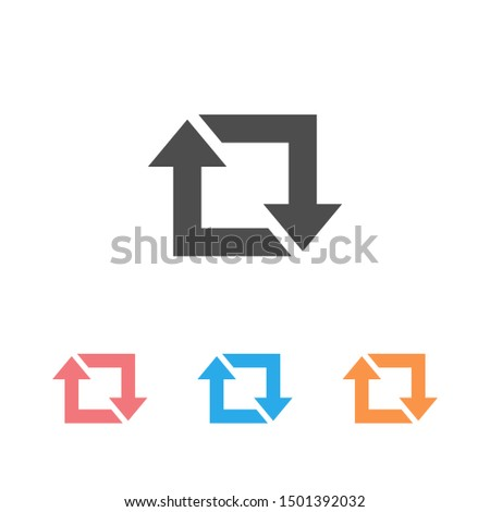 Repost icon set, repost symbol, repost sign. Vector illustration