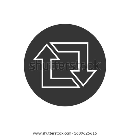 Repost line icon, repost symbol, repost sign. Vector illustration