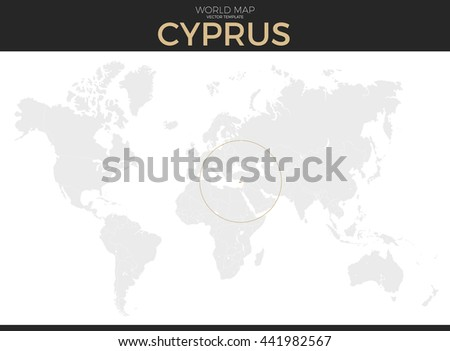 Grayscale vector worldmap download free vector art stock republic of cyprus location modern detailed vector map all world countries without names vector gumiabroncs Image collections