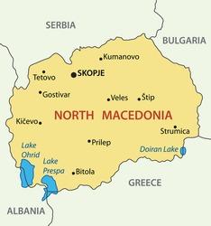 Republic of North Macedonia - vector map