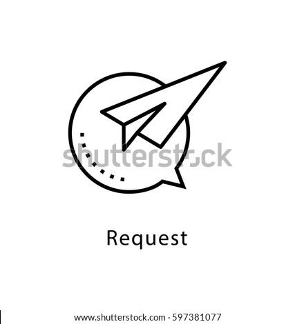 Request Vector Line Icon  Сток-фото ©