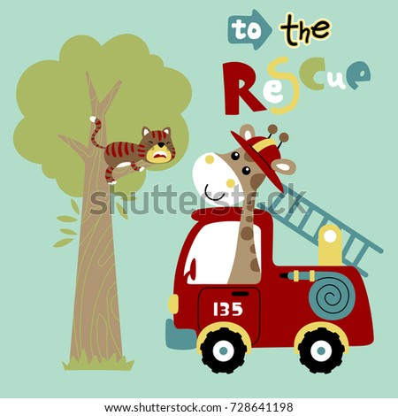 rescue mission  vector cartoon