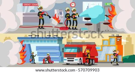 rescue service colorful
