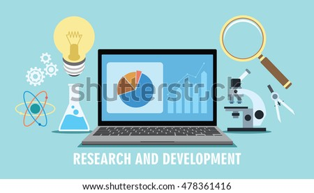 research and development r d concept innovation