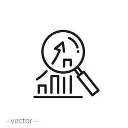 research icon, analyze business linear sign isolated on white background - vector illustration eps10