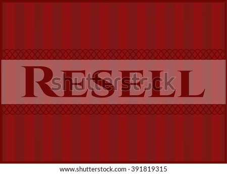 Resell poster or banner