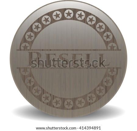 Resell realistic wood emblem