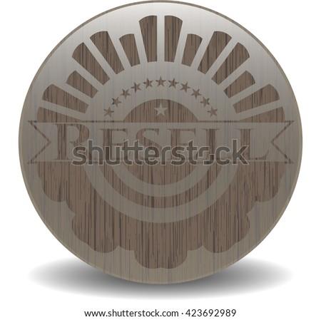 Resell vintage wood emblem