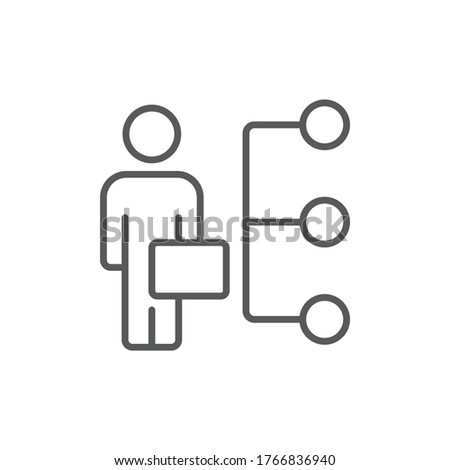 Reseller vector icon symbol isolated on white background Photo stock ©