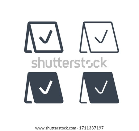 Reservation line vector minimalistic icon. Note message vector symbol. Service party icons set for web design. Modern flat exclusive reserved icon for app design. Information sign minimal flat linear  Сток-фото ©