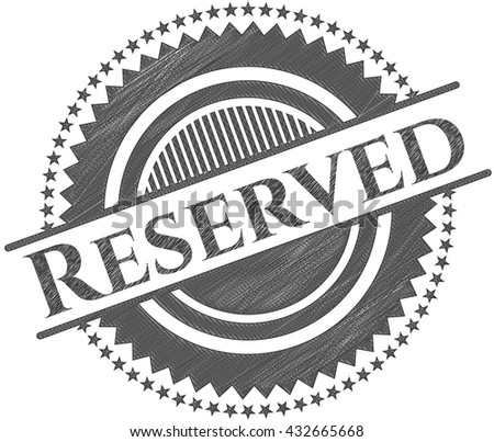 Reserved draw with pencil effect