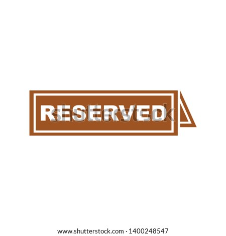 Reserved restaurant table icon vector, filled flat sign, solid pictogram isolated on white. Symbol, logo illustration. Pixel perfect vector graphics - Vector