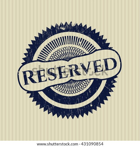 Reserved rubber seal with grunge texture #431090854