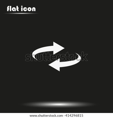 Reset button, reload arrows symbol. Flat illustration. #414296815