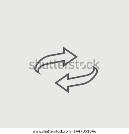 Reset vector icon illustration sign #1447051046
