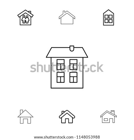 residence icon collection of 7