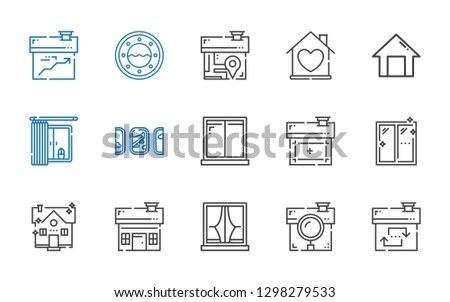 residence icons set. Collection of residence with house, window, windows, home. Editable and scalable residence icons.